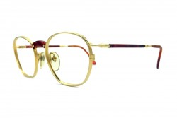 JEAN PAUL GAULTIER 55-1271 MATTE GOLD METAL VINTAGE SUNGLASSES