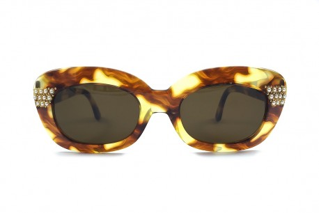NOUVELLE VAGUE SHARON P11 VINTAGE SUNGLASSES CATEYE TORTOISE WITH PEARL